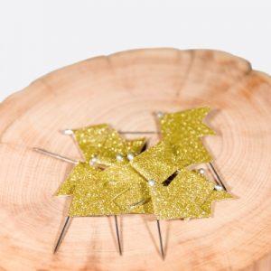 Drapeaux paillettes dorés