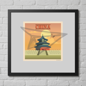 Affiche Vintage de la Chine