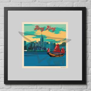 Affiche vintage Hong Kong