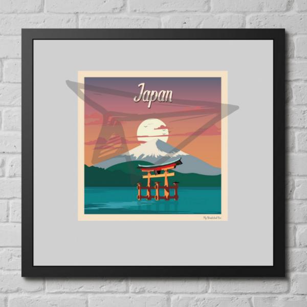 Affiche vintage Japon