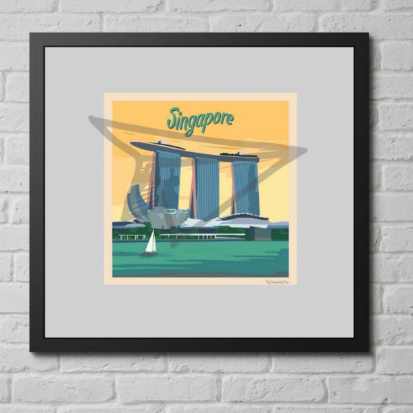 affiche singapour vintage