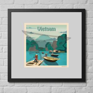 Affiche vintage Vietnam