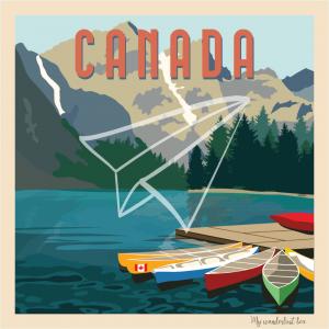 affiche vintage Canada